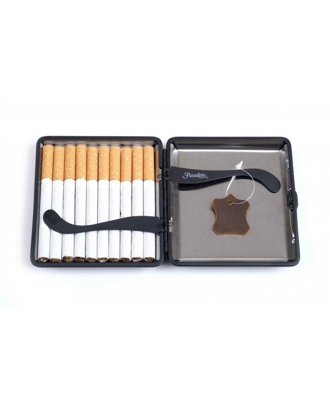 Портсигар Passatore на 20 сигарет, натуральная буйволиная кожа, Коричневый