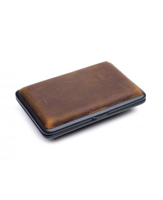 Портсигар Passatore на 14 сигарет, натуральная буйволиная кожа, Коричневый