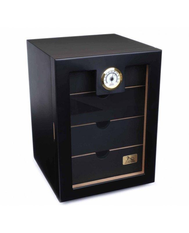 Хьюмидор-шкаф Lubinski на 130 сигар, Черный лак