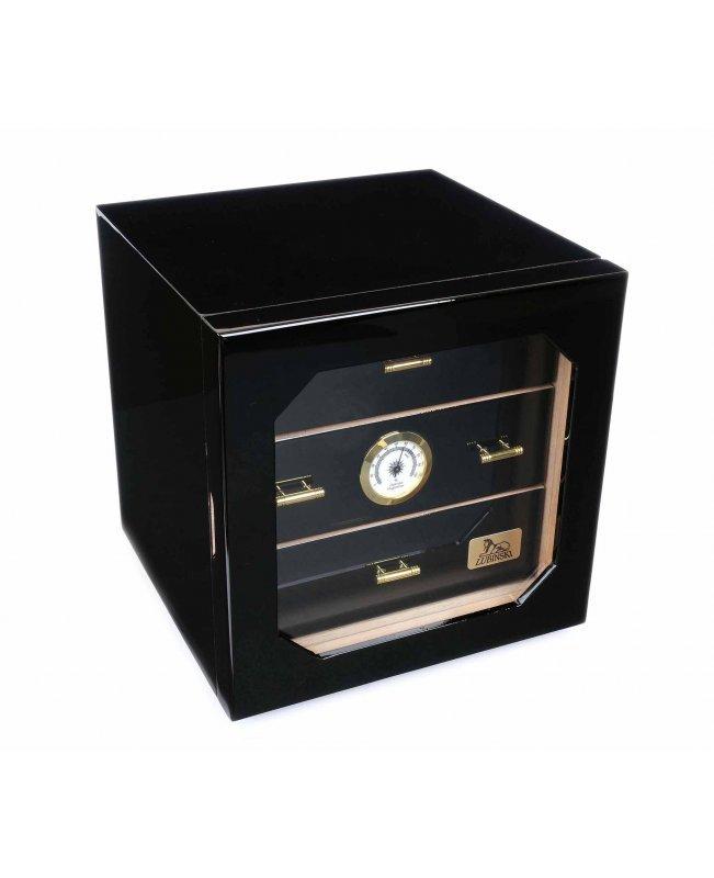 Хьюмидор-шкаф Lubinski на 100 сигар, Черный глянец