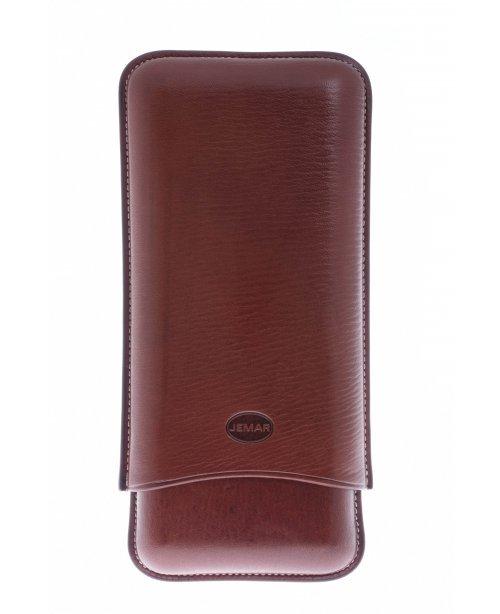 Чехол Jemar на 3 сигары Torpedo (диаметром до 2,8 см), натуральная кожа