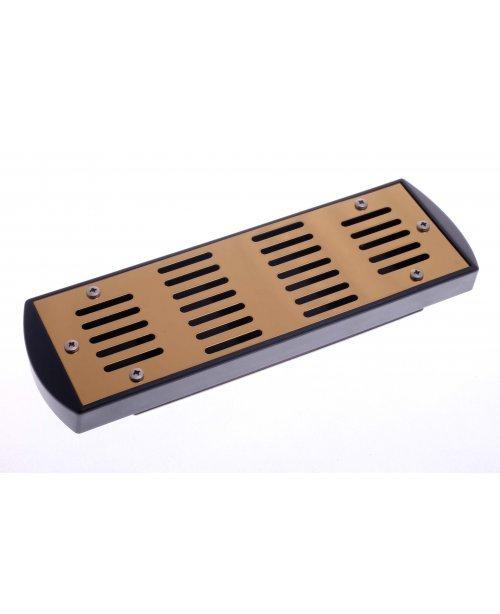 Увлажнитель акриловый Passatore на 50 сигар, золотистый
