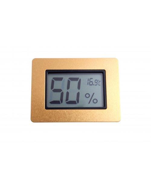 Термо-Гигрометр цифровой, золото