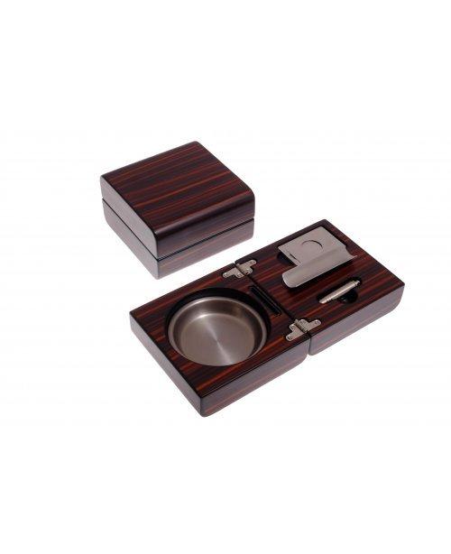 Пепельница сигарная Lubinski с набором, Эбеновое дерево
