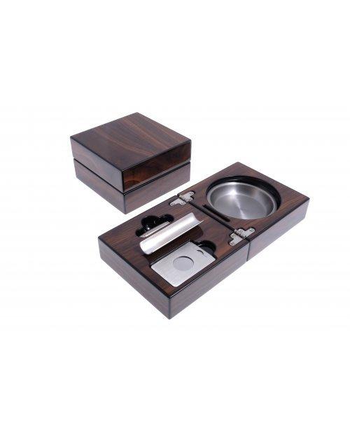 Пепельница сигарная Lubinski с набором, Орех