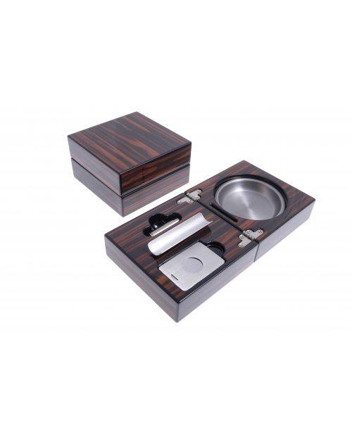 Пепельница сигарная Lubinski с набором, Макассар