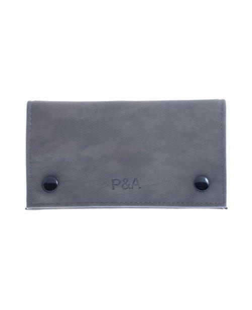 Кисет P&A для самокруток, экокожа, серый