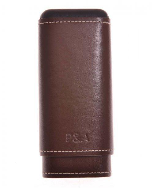 Чехол P&A на 3 сигары Черчилль, натуральная кожа и кедр